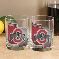 Ohio State Buckeyes 2-Pack Enhanced Hi-Def Executive Glass Set