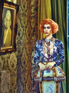 late bloomers: raquel zimmermann by steven klein for vogue us august 2011   visual optimism; fashion editorials, shows, campaigns & more!