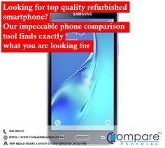 Looking for top quality refurbished smartphone? Our impeccable phone comparison tool finds exactly what you are looking for. Light Effect Photoshop, Compare Phones, London United Kingdom, Projects To Try, Smartphone, Samsung, Marketing, Top, Sam Son