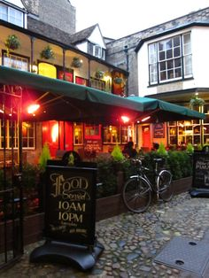 This is the Eagles Pub, where Crick and Watson discussed the structure of DNA. Cambridge, England.