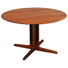 Vintage Danish Round Teak Pedestal Base Table | From A Unique Collection Of  Antique And Modern Dining Room Tables At ...