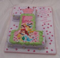 Principesse Disney 1st Birthday Cake