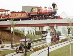 Six Flags Moon Antique Cars in 1904 World's Fair Section and has been modified over the years (1971 handout)