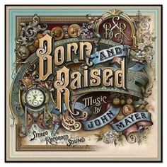 Listening to John Mayer's new album, Born and Raised, streaming on iTunes and available for sale on 05/22/2012!