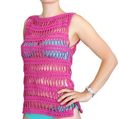Stripes & Crosses Top By Anna Erlandsson - Free Crochet Pattern - (ravelry)