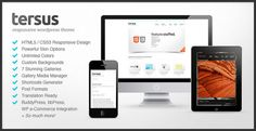 Tersus is a comprehensive responsive WordPress theme. With a powerful admin and flexible options, Tersus is designed to suit almost all projects.
