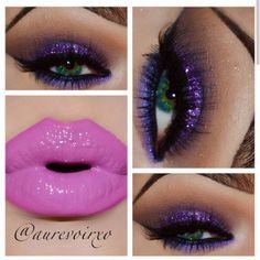 Purple Glitter #makeup #makeuptips #beauty #beautytips #stylishfashion #eyeshadow #eyemakeup #eyemakeuplook #eyemakeupeveryday #lips   www.pinkbasis.com