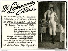 Original-Werbung/Inserat/ Anzeige 1913 - DR.LAHMANN WÄSCHE / HEINZELMANN ca. 140 x 110 mm