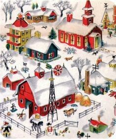 Vintage Ornaments Ideas – Page 9917871212 – Vintage and antique items Christmas Town, Christmas Scenes, Retro Christmas, Christmas Greetings, Winter Christmas, Christmas Tumblr, Christmas Villages, Vintage Christmas Images, Vintage Holiday