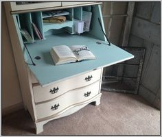 Hand Painted Secretary Desk With Hutch - Desk : Home Furniture ...                                                                                                                                                      More