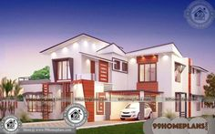 New Construction Home Plans & Simple 2 Storey House Design Plans Free House Plans, Simple House Plans, Simple House Design, House Front Design, Indian House Plans, Country House Plans, New Home Designs, Home Design Plans, Bungalow House Plans