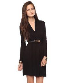 Draped Surplice Dress | FOREVER 21 - 2000036059