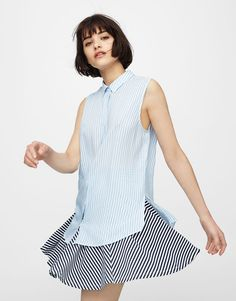 Camisa básica manga sisa - Blusas y camisas - Ropa - Mujer - PULL BEAR  México 093591285d