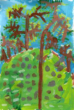 zara abbasova(grade k, p.s. 048 william g. wilcox, staten island), little trees. PS Art @the met, new york, usa http://www.huffingtonpost.com/entry/the-met-public-art-education_us_5942d4cbe4b0f15cd5b9eb4f