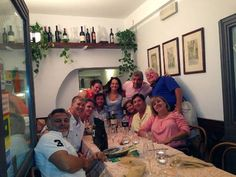 Our customers, likeable, and very friendly, from Louisiana ... Restaurant Piccolo Arancio #Rome