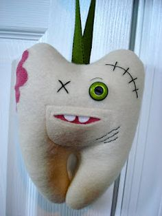 Zombie Tooth Fairy Pillow