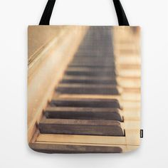 Old piano Tote Bag by Edward M. Fielding - $22.00