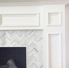 herringbone marble fireplace surround                                                                                                                                                                                 More