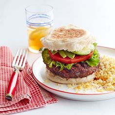 Black Bean Veggie Burger with Couscous