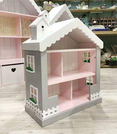 Купить Маленький кукольный домик-стеллаж - кукольный дом, кукольный домик, кукольная мебель