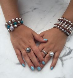 Fine Pearls + Leather Jewelry by Wendy Mignot®