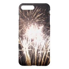 #wood - #White and Gold Fireworks I iPhone 7 Plus Case