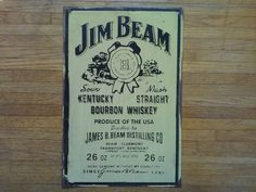 Check out this item in my Etsy shop https://www.etsy.com/listing/205468597/rare-original-vintage-jim-beam-metal