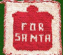 Cookies For Santa Dishcloth Pattern