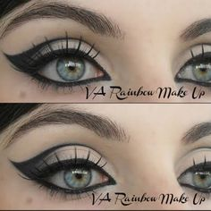 A dramatic cat eye will out some Gothic flair in your makeup. Try it to spice things up!