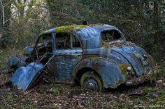 Abandoned Vintage Cars | Abandoned - Old Blue Car | Flickr - Photo Sharing!