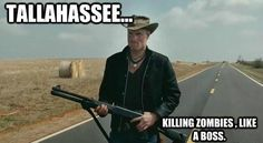 Woodie Harrelson as Tallahassee in Zombieland Zombieland Movie, The First Hunger Games, Nut Up, Best Zombie, What Do You Mean, Upcoming Films, Post Apocalypse, Tough Guy, Horror Films