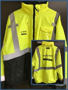 Hi Vis Work Jacket - $60 Liner Zips Out / Water Resistant Work Jackets, The North Face, Zip, Store, Water, Fashion, Gripe Water, Moda, Tent