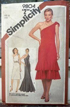 Simplicity 9804  Super-Slinky Evening Gown or by Clutterina