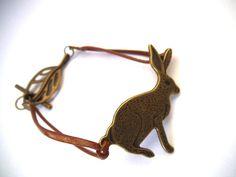 Bronze Rabbit Bracelet  Bunny Rabbit by TerriJeansAdornments on etsy.com