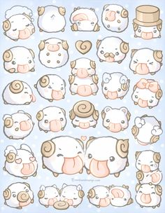 "Glossy 8.5"" x 11"" uncut sticker sheet featuring poros from League of Legends.  Also available as individual charms."