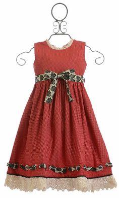 Mustard Pie Red Party Dress Bernadette (12Mos & 24Mos)