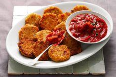 Garbanzo Cakes with Tomato Sauce Recipe - Healthy Living Kraft Recipes