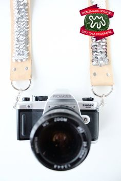Make this Homemade Holiday Gift: Sequined Camera Strap HOMEMADE HOLIDAY GIFT IDEA EXCHANGE: PROJECT #18 | Apartment Therapy