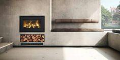 Scandinavian fireplace.