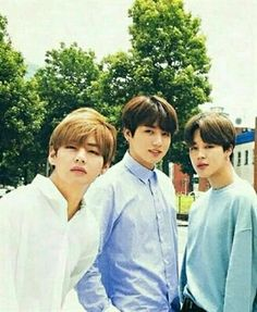 Park Jimin, Kim Taehyung and Jeon Jungkook. Jungkook Jimin, Kim Namjoon, Bts Taehyung, Bts Bangtan Boy, Seokjin, Jung Hoseok, Billboard Music Awards, Jikook, Dance Music