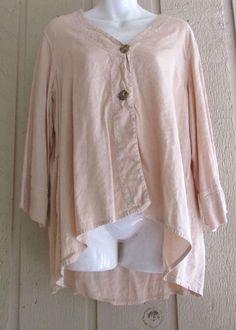 kleen  boutique lagenlook jacket linen/rayon XL #kleen #artsybohofunkylagenlook