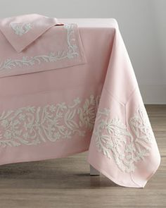 "Dori Pink Tablecloth, 108"" x 66""  at Neiman Marcus."