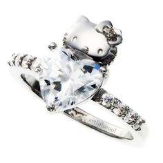 Hello Kitty Wedding Engagement Ring #women #gift