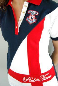 Del diseño a sus colores; del bordado hasta el último botón. Nuestros #polos están hechos con mucho cariño   #mujer #moda #verano Camisa Polo, St George Flag, Boy Cuts, Nautical Stripes, Polo Club, Polo Shirt, T Shirt, Moncler, Crow