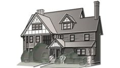 Tudor:This architecture style was popular in the 1920s and 1930s and continues to be a mainstay in suburbs across the United States. The defining characteristics are half-timbering on bay windows and uppe