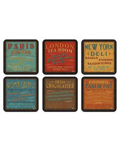 Pimpernel Lunchtime Coasters