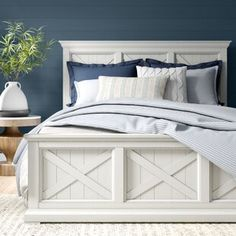 Birch Lane: Farmhouse & Traditional Furniture - Made to Last Modern Farmhouse Bedroom, Farmhouse Bed Frames, King Farmhouse Bed, Farmhouse Headboards, Farmhouse Bedroom Furniture Sets, Farmhouse Style Bedding, White Farmhouse, Headboards For Beds, Bedroom Bed