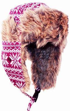 Unisex Snowflake Wool Tweed Faux Fur Lined Winter Earflap Trooper Aviator Hat (Choose from Various Colors) $14.99