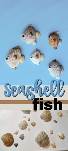 Turn your beach findings into a cute seashell fish craft this summer. Hang the s… Turn your beach findings into a cute seashell fish craft this summer. Hang the seashell fish in a shadowbox for a fun memento to look back on. Kids Crafts, Sea Crafts, Diy Craft Projects, Nature Crafts, Summer Crafts, Toddler Crafts, Crafts To Sell, Arts And Crafts, Ocean Crafts For Teens