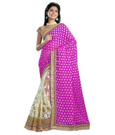 Loved it: Triveni Staggering Dual Color Color Embroidered Net Georgette Saree, http://www.snapdeal.com/product/triveni-staggering-dual-color-color/868765125